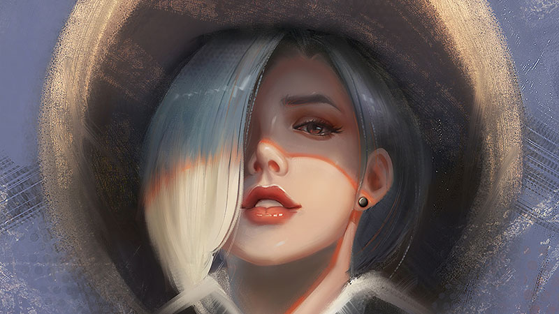 Ashe overwatch art