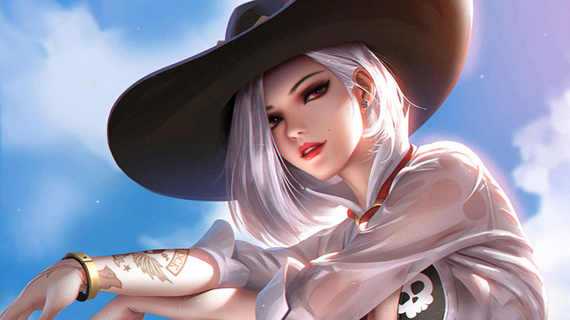 Ashe overwatch wallpaper