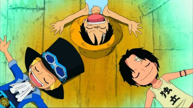 Monkey D.Luffy - sabo - ace